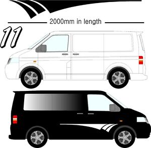 Graphic Decals Self Adhesive Vinyl Stickers Any Vehicle VW Campers Motorhome D11