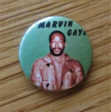 More details for marvin gaye old metal button badge from the 1980's motown soul vintage