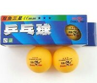 2 Boxes(6 Balls) Double Fish 3* 40MM Olympic Table Tennis Yellow Ping Pong New