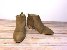 Firth Tan Camel Suede Low Ankle Booties Boots Size 9 / 40