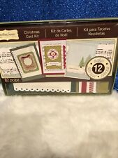 Recollections CHRISTMAS CARD KIT 82pc Makes 12 Cards