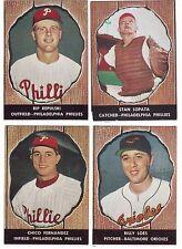 1958 ORIGINAL LOT OF 4 HIRES ROOT BEER BASEBALL CARDS NO TABS #s 15, 16, 29, 48