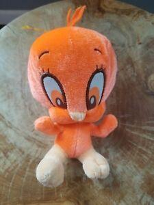 "Looney Tunes Neon Orange TWEETY BIRD 5"" Plush Stuffed Animal"