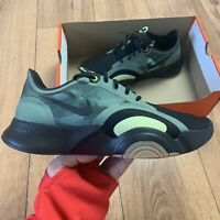 Nike Men's Superrep Go Trainers Size UK 8 EUR 42.5 Black/Green CJ0773 032 NEW