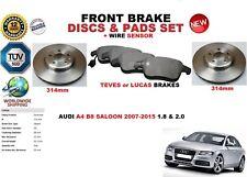 pour Audi A4 Saloon B8 2007-2015 ENSEMBLE DISQUES DE FREIN AVANT + PLAQUETTES