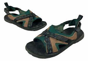 Rare Vintage Nike Chehalis Womens Green Brown Adjustable Strap Hiking Sandals 8