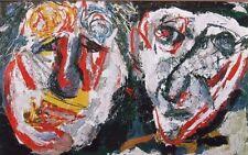 """KAREL APPEL mounted vintage print, Stedelijk 1965, COBRA art brut 12 x 10"""" KS6"""