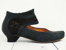 ☀ THINK! ☀ Damen Pumps Gr. 38 Leder Schwarz Leather Woman Shoes High Heels