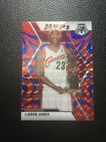 Lebron James 2019-20 Panini Prizm Mosaic NBA MVP Reactive Blue RARE Cavs Lakers