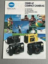 Minolta 35mm AF Compact Cameras, A4 Paper Brochure, 10 Pages, early 1990's