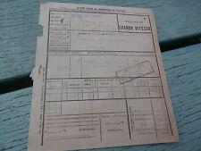 Récépissé Chemin de Fer du nord Gare St VALERY / somme en 1922