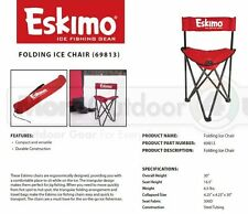 69813 NEW Eskimo Gear Folding Ice Fishing Shelter Ice Man Chair 250lb Capacity
