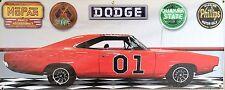1969 DODGE CHARGER GENERAL LEE GARAGE SCENE BANNER SIGN SHOP ART MURAL 2' X 5'