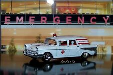1957 57 CHEVY AMBULANCE 1/64 SCALE REPLICA COLLECTIBLE MODEL DIORAMA OR DISPLAY
