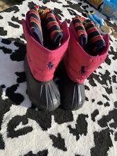 GIRLS/Infant Kids RALPH LAUREN WINTER BOOTS SNOW BOOTS / WELLIES Kids UK 8.5 Imm