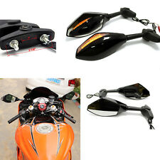 LED TURN SIGNALS MOTORCYCLE MIRRORS FOR YAMAHA FZ6R YZF R6 1999-2008 R6S 2006-09