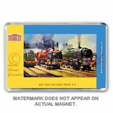 RETRO HORNBY DUBLO PULLMAN TRAIN SET BOX ART JUMBO FRIDGE / LOCKER  MAGNET
