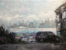 Original Painting by American Artist M.Hee / Cityscape #MH_0193AC19 New York