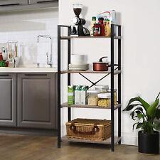 4-Tier Bookshelf Storage Rack Bathroom Kitchen Stand Storage Shelf Furniture