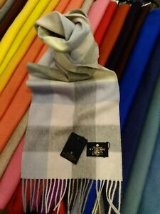100% Pure Cashmere Scarf | The House of Balmoral | Pink Block Check | Bright