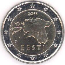 Estonia 2 euro rumbo moneda 2011