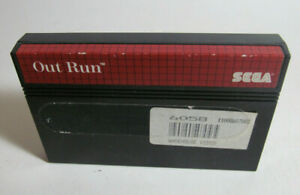 Out Run (Sega Master System, 1987) SMS Fun Racing Authentic Game Good Shape