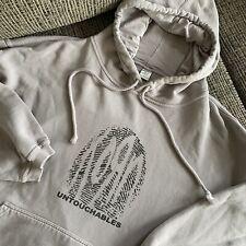 Korn Untouchables NuMetal Mens Large L Grey Hoodie Sweatshirt 90s Limp Bizkit