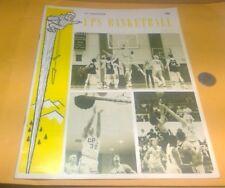 1978- Puget Sound v U.C.-Irvine Basketball Game Program Ups Loggers Anteaters Uc