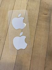 Apple Sticker Genuine New Logo 2 Total Stickers OEM Authentic White