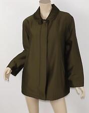 MONDI Escada Olive Virgin Wool & Silk Sheen Faux Fur Lined Oversized Coat 38 M 8