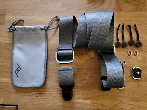 Peak Design ash Slide Lite Camera Strap with all accessories.