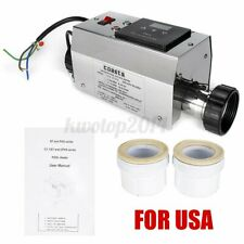 3KW Electric Water Heater Adjustable Thermostat for Swimming Pool SPA Hot Tub U