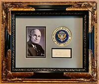 Harry S. Truman Signed Autograph Photo Display 1944 Signature PSA/DNA Letter