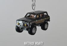 1988 Custom Jeep Wagoneer Christmas Ornament 1/64 Scale Adorno Vintage Style
