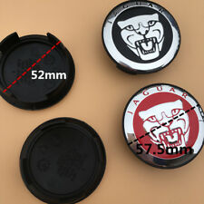 SET OF 4 JAGUAR RED JAG WHEEL HUB CAPS LOGO RIM 57MM COVER EMBLEM CAPS