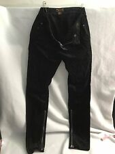 BEN SHERMAN Siouxsie DARK COATED Zipper Skinny Jeans Pants- Large 35 x 31 $129