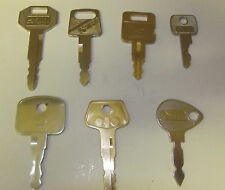 Excavator keys jbc tractors Hitachi Cat locus volvo mowers digger key set 7 keys