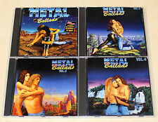 4 CD raccolta METAL Ballads 1 2 3 4 Scorpions Bonfire Deep Purple Alice Cooper
