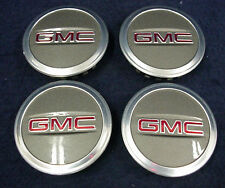 GMC ACADIA 10-12 GRAY BUTTON CENTER CAPS - SET OF 4 - FITS VARIOUS  OEM WHEELS