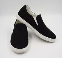 Scarosso Damen Loafer Sneaker Gr.37 schwarz Flechtmuster Leder