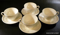 8 pcs ~ WEDGWOOD china WELLESLEY pattern  ~ 4 Footed Cup & Saucer Sets