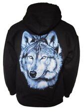 Herren-Kapuzenpullover mit Wolf in Plusgröße