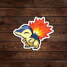 8-Bit Cyndaquil (Pokemon) Decal/Sticker