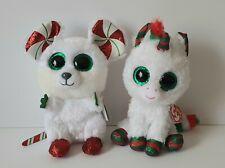 2 Christmas Beanie Boo Chimney B'Day Dec 26 & Snowfall Dec 21 Sparkle Highlights