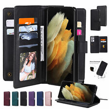 Leather Wallet Flip Case Cover For Samsung S21 S20 Ultra Plus S10S9 Note 20 10 9