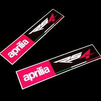 Aprilia RS4 Carreras Reflectante Moto Pegatina Dibujo Rectángulo X 2 Piezas