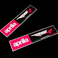 Aprilia RS4 Racing  REFLECTIVE  Motorcycle graphics stickers rectangle  x  2 PCS