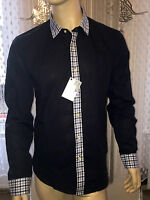 Love Moschino Men's Logo Shirt in Navy Size Small/ S RRP £114