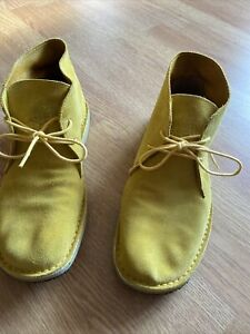 (Pretty Green)Yellow Suede Desert Boots Size 43