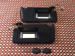 2011-2014 Dodge Charger Sun Visors Lighted Driver Passenger Black OEM